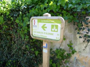 You'll find these Vendee Velo signposts to keep you on track